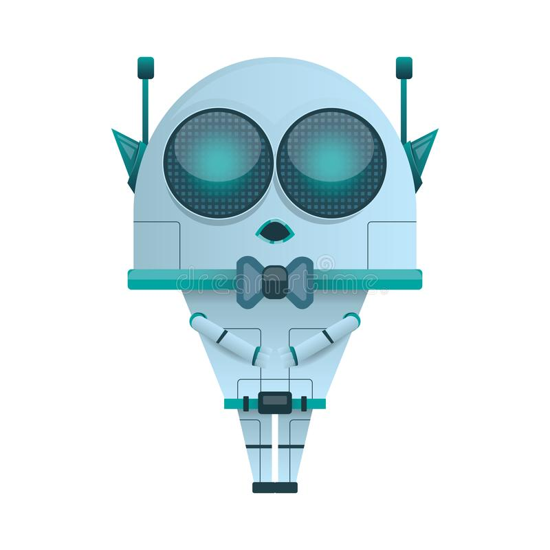 Alien mini Robot Vector vector illustration