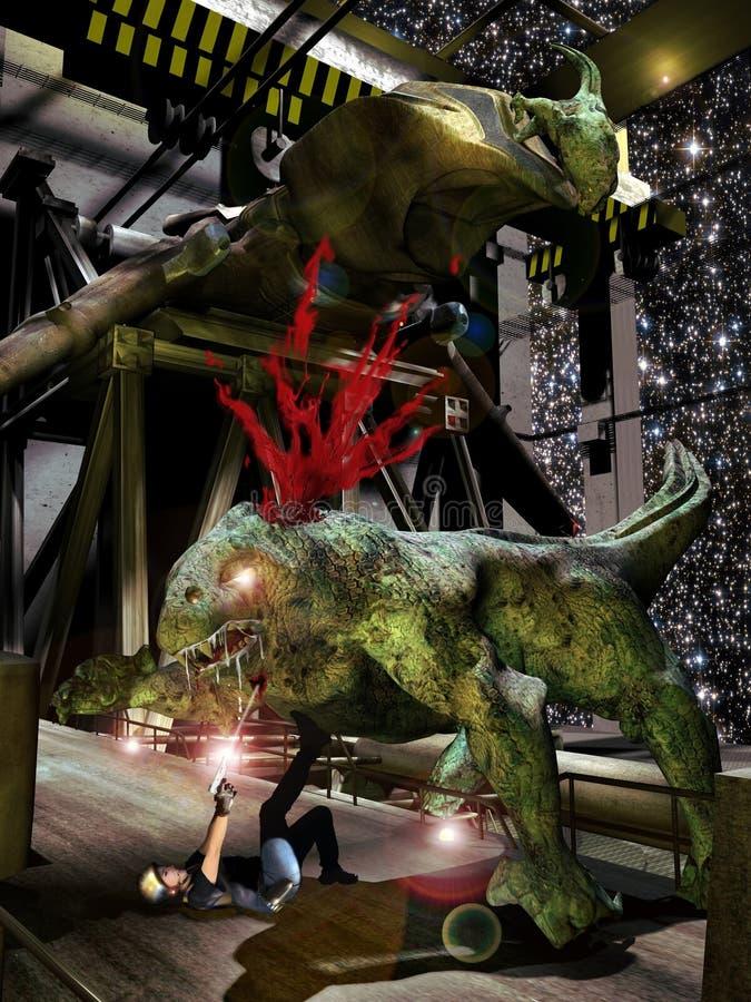 Alien monsters stock illustration