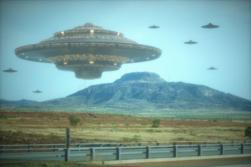 Alien Mothership royalty free illustration