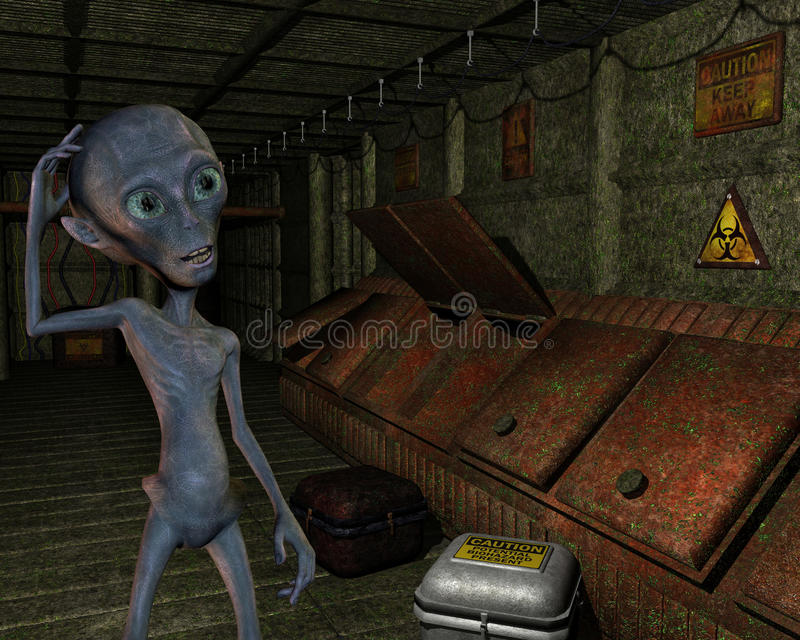 Download Alien In An Old Industrial Plant Stock Images - Image: 27025724