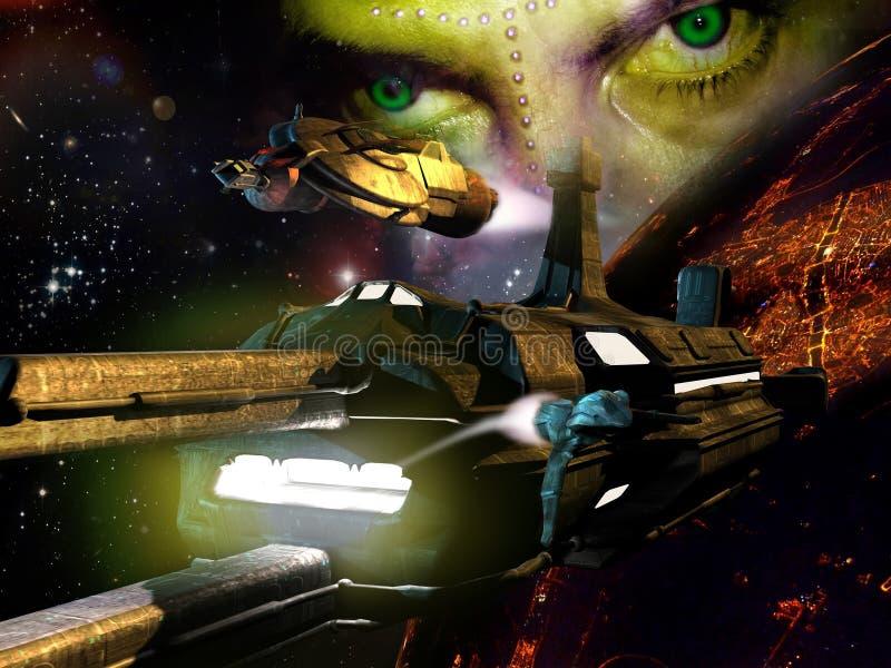 Alien planet vector illustration