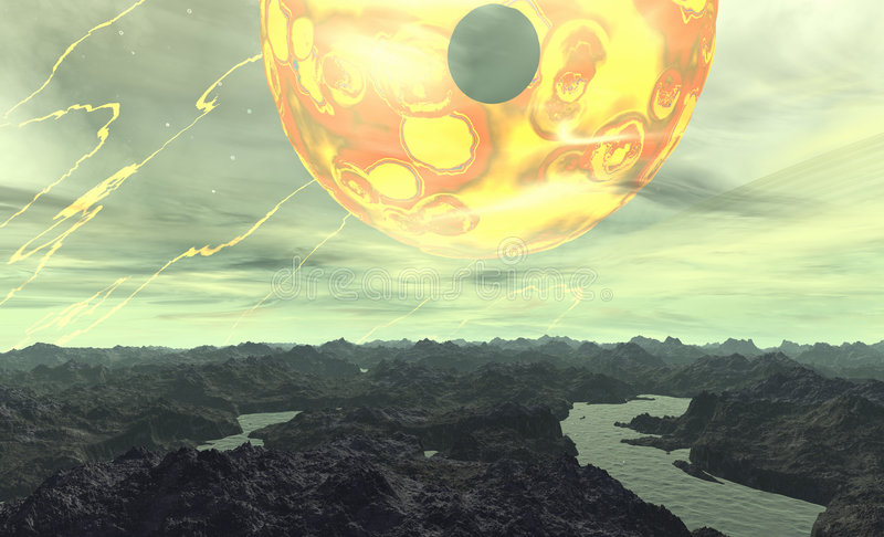 Download Alien Planet stock illustration. Image of mountain, space - 509625
