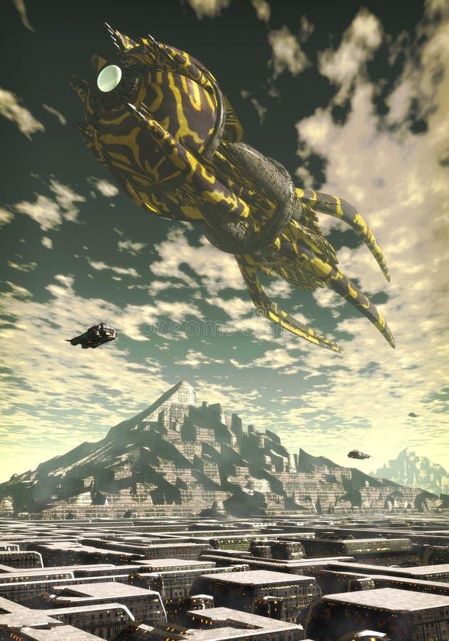 Download Alien Planet stock illustration. Illustration of atmosphere - 8951770