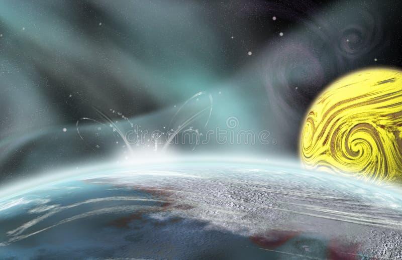 Alien Planet Impact vector illustration