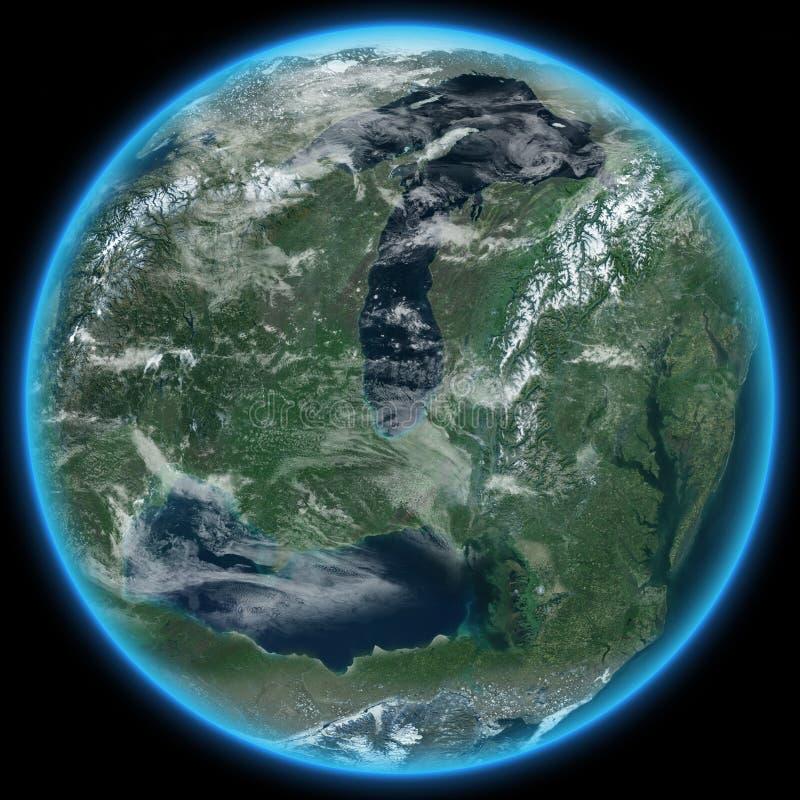 Download Alien Planet Terraformed stock illustration. Image of exoplanet - 26261134