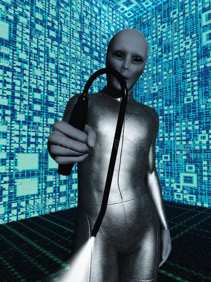 Download Alien With Probe Stock Image - Image: 24647801