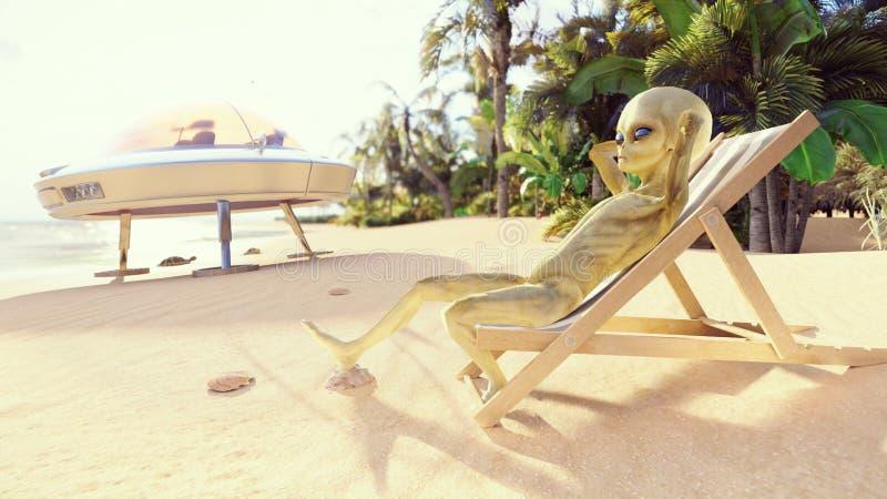 Beach Sun Clip Art Alien
