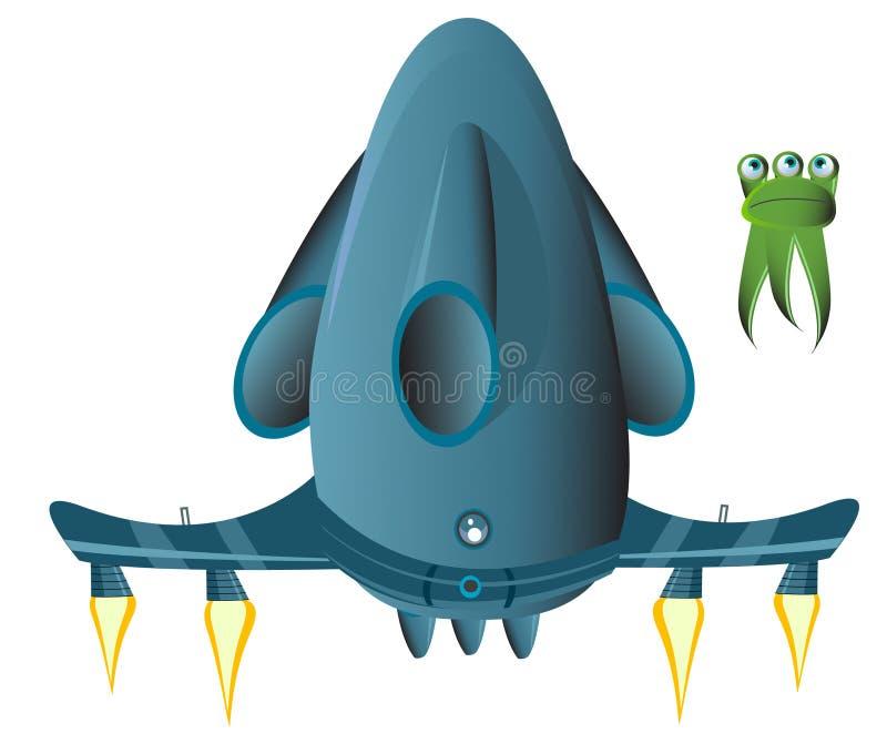 Alien_ship immagine stock libera da diritti