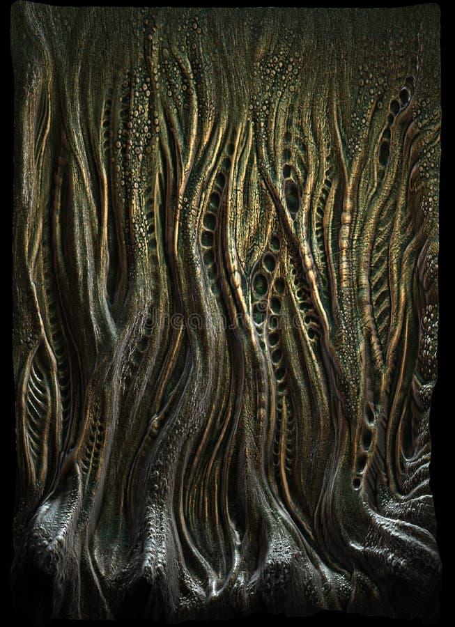 Alien skin stock photo