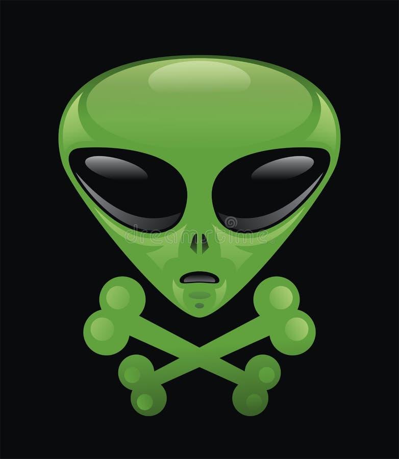 Download Alien Skull & Crossbones . stock illustration. Image of fantasy - 28884241