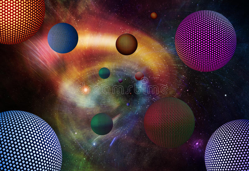 Alien Spheres vector illustration