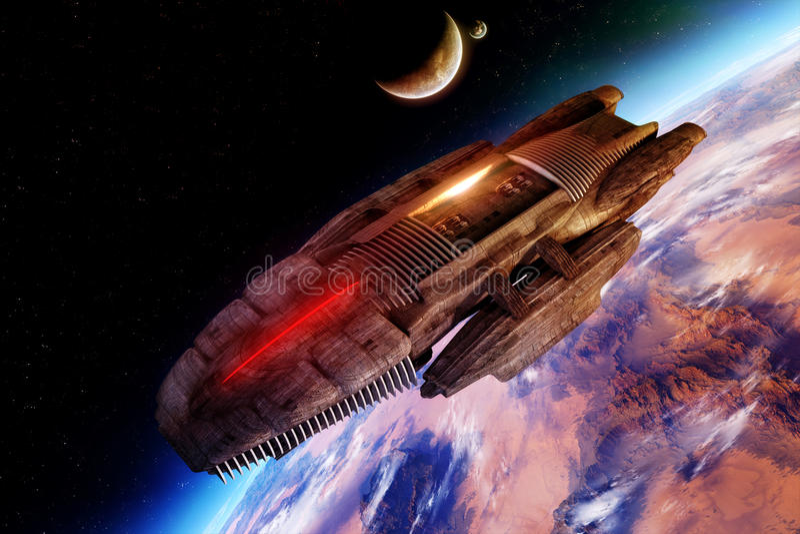 Download Alien Spaceship stock illustration. Image of science - 25703959