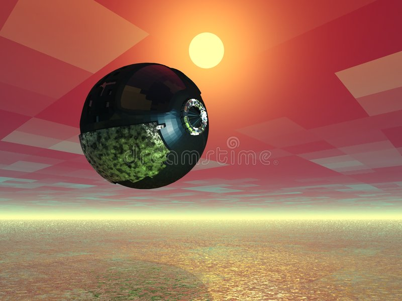 Alien Spaceship royalty free illustration