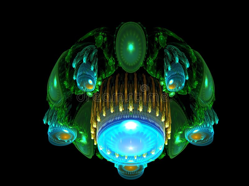 Alien Spaceship Landing royalty free illustration