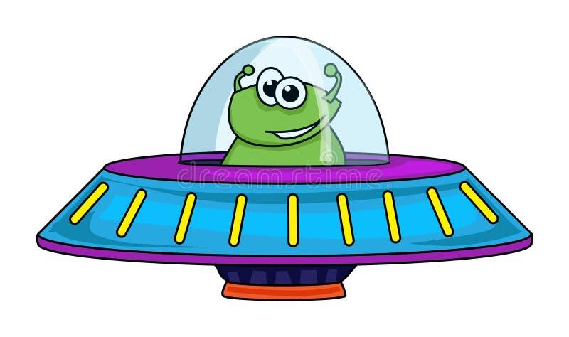 Alien Spaceship Stock Illustration. Illustration Of Icon