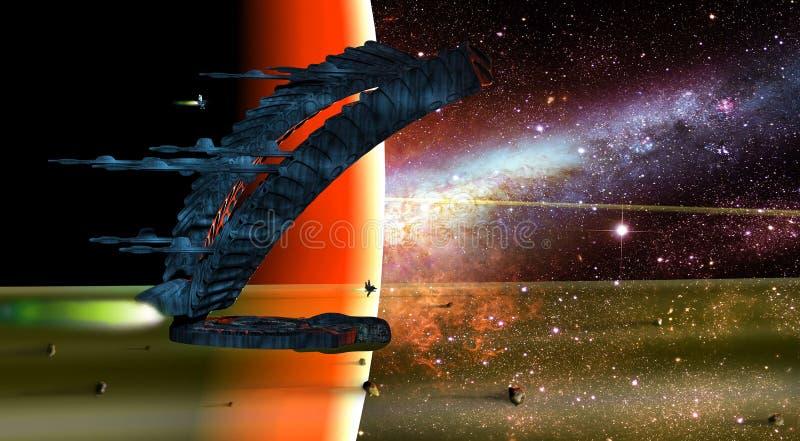Alien Spaceships Royalty Free Stock Photo