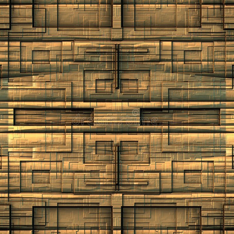 Alien techno background. Image of alien techno background with abstract golden texture stock image