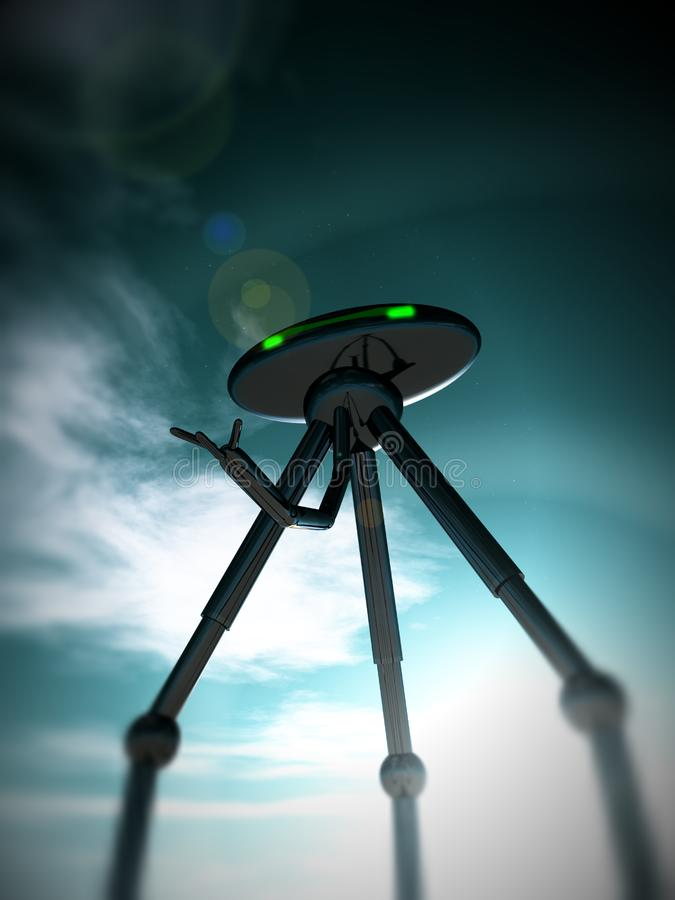 Alien Tripod And Sky 4 Free Stock Images