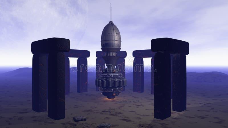 Download Alien UFO ship stock illustration. Image of night, planet - 14135155