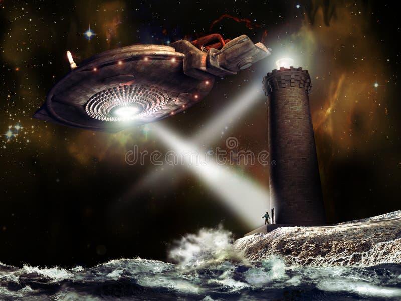 Download Alien visit stock illustration. Image of apparition, alien - 19883784
