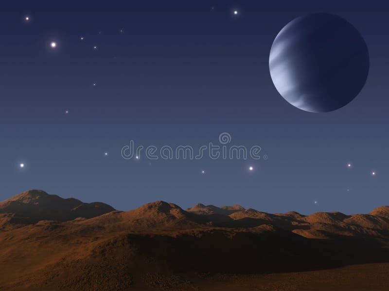 Alien world. vector illustration