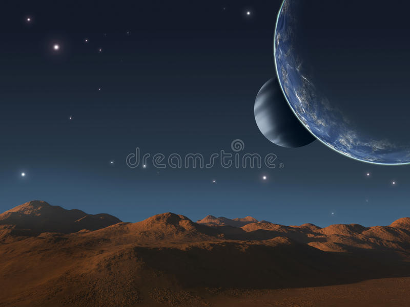 Download Alien world. stock illustration. Image of energy, glow - 25267162