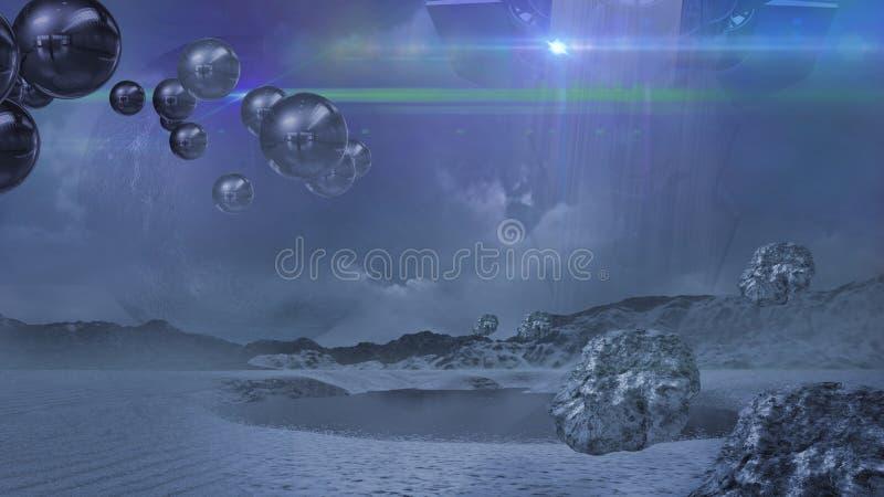 Alien world in blue royalty free illustration