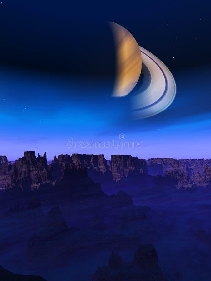 Download Alien World Landscape stock illustration. Image of globe - 14872299