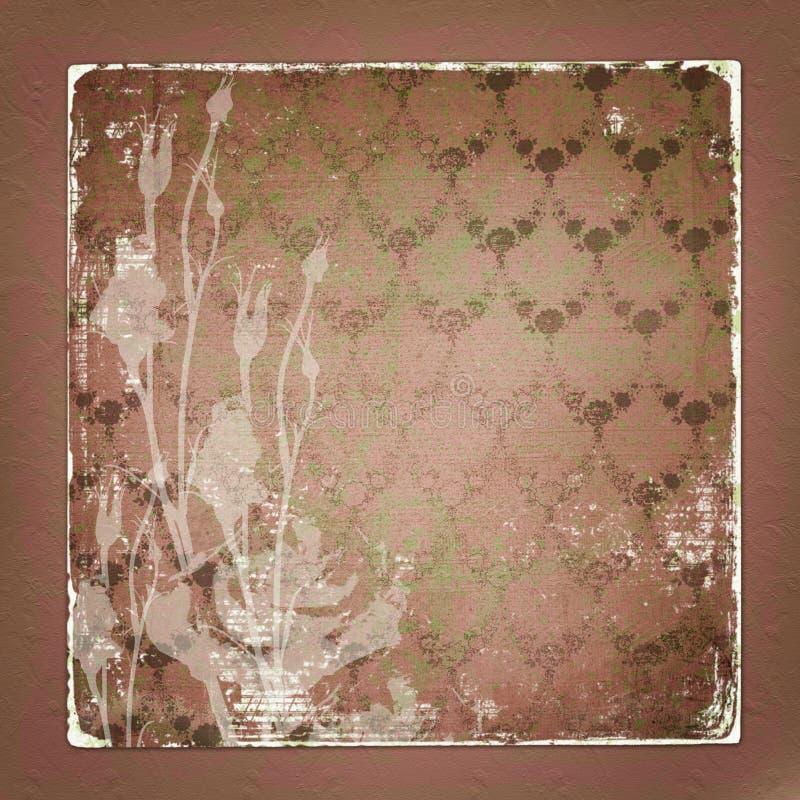 Alienated usou o fundo de papel com ornamental fotos de stock royalty free