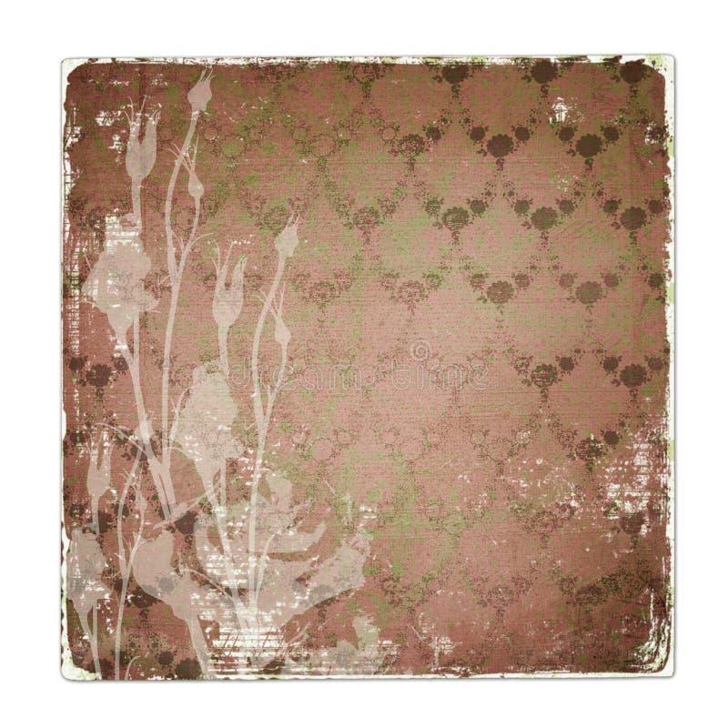 Alienated usou o fundo de papel com ornamental imagem de stock