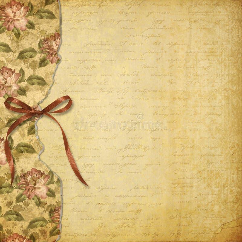 Alienerat album för foto med målade rosor royaltyfri illustrationer