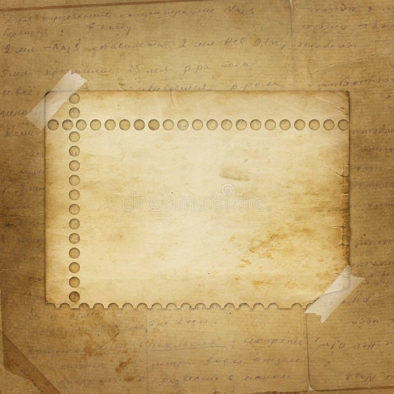 alienerat meddelandepapper stock illustrationer