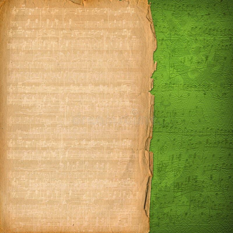 alienerat musikaliskt gammalt papper stock illustrationer