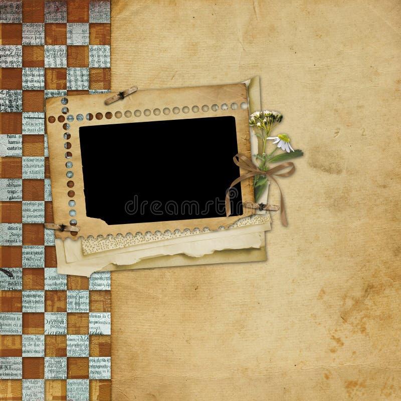 alienerat ramfoto royaltyfri illustrationer