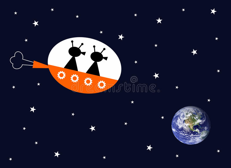 Aliens stock illustration