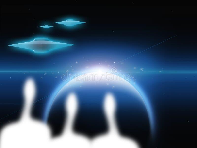 Aliens vector illustration