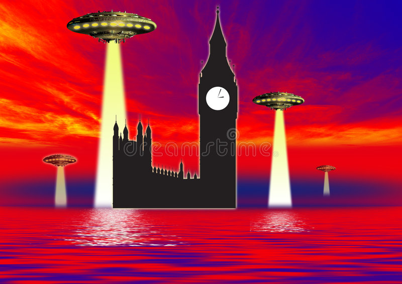 Aliens Fear Royalty Free Stock Photography