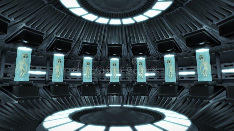 aliens inside a ufo stock illustration illustration of search 67899698. Black Bedroom Furniture Sets. Home Design Ideas