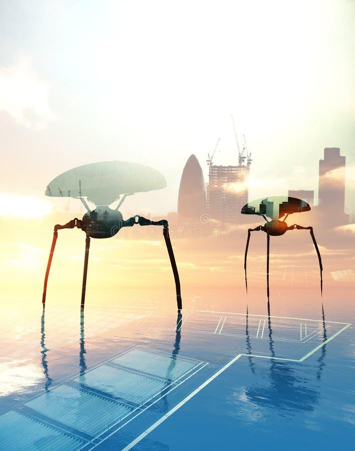 Aliens In London Stock Image
