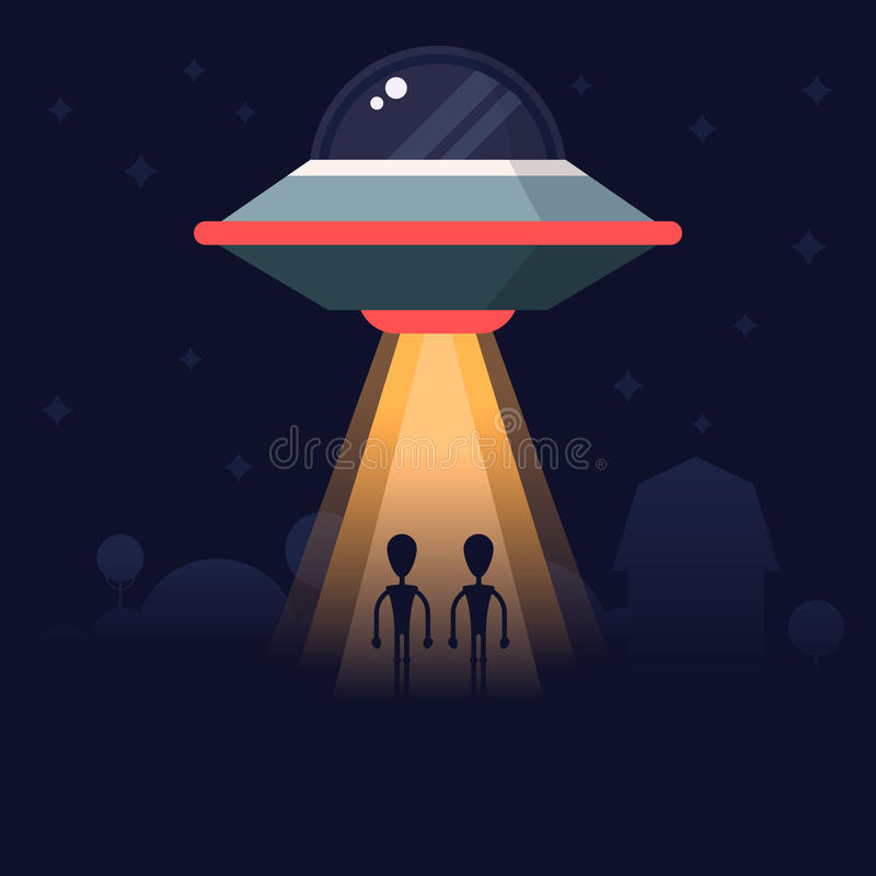 Aliens research vector illustration