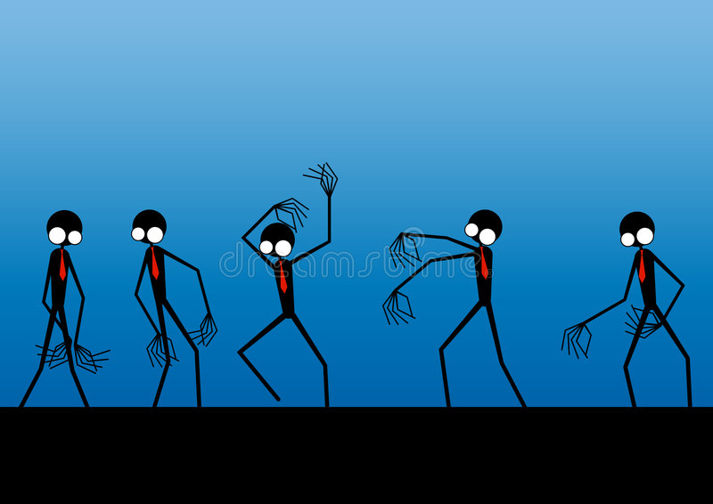 Download Aliens In A Row Royalty Free Stock Photos - Image: 6165928