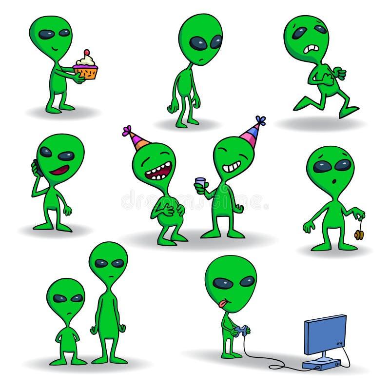 Download Aliens stock vector. Image of controller, green, humanoid - 39036682