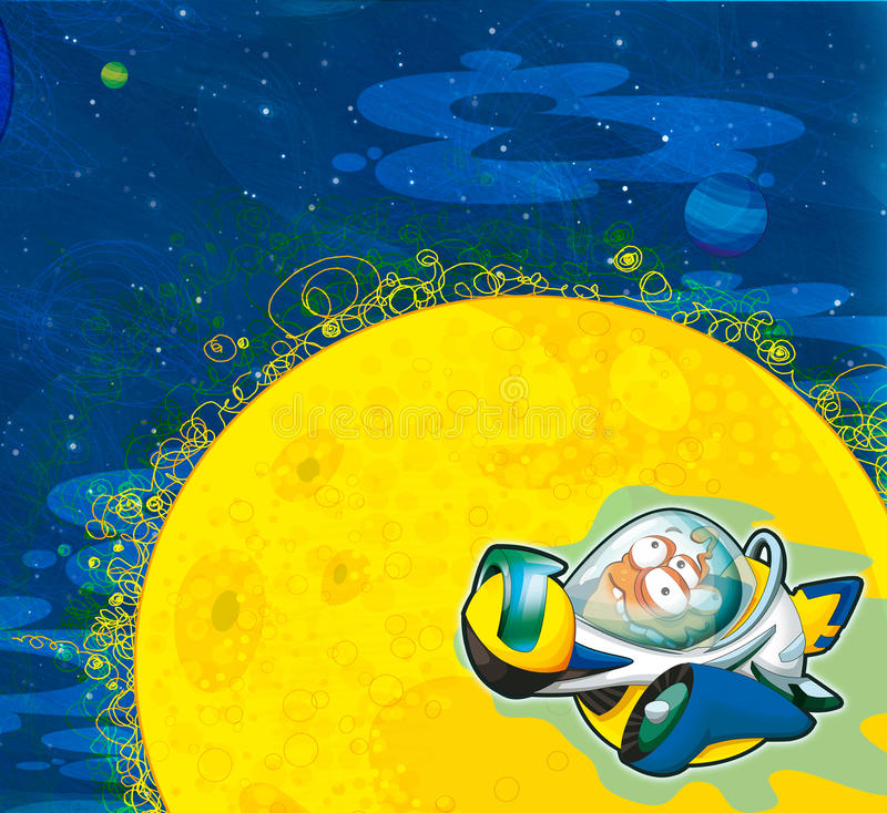 Download The Aliens Subject - Ufo - Star - Kindergarten - Menu - Screen - Space For Text - Happy And Funny Mood - Illustration For The Chil Stock Illustration - Illustration: 32439635