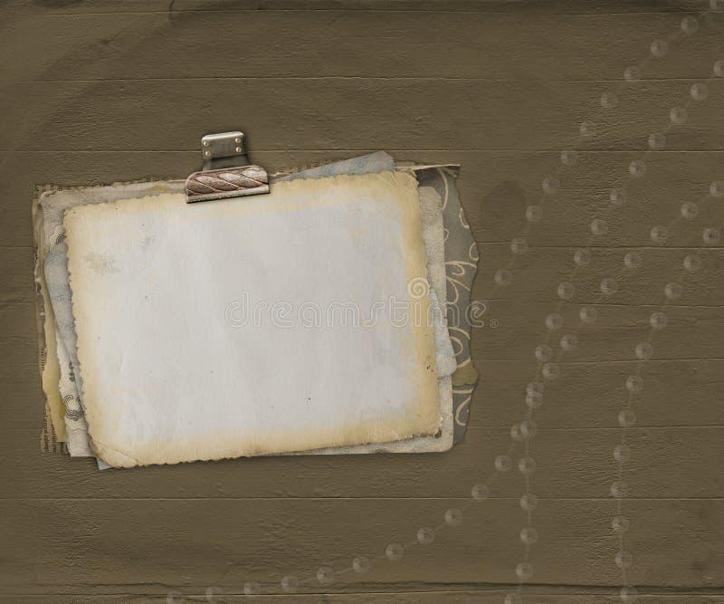 alienujący antyczny tła papieru narys ilustracji