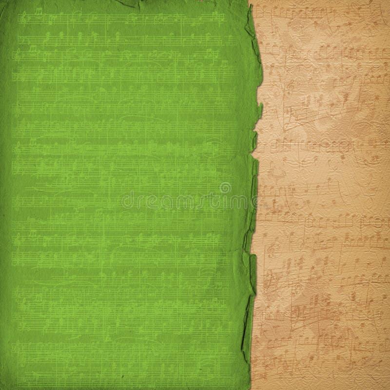 alienujący muzykalny stary papierowy scrapbooking styl zdjęcie stock