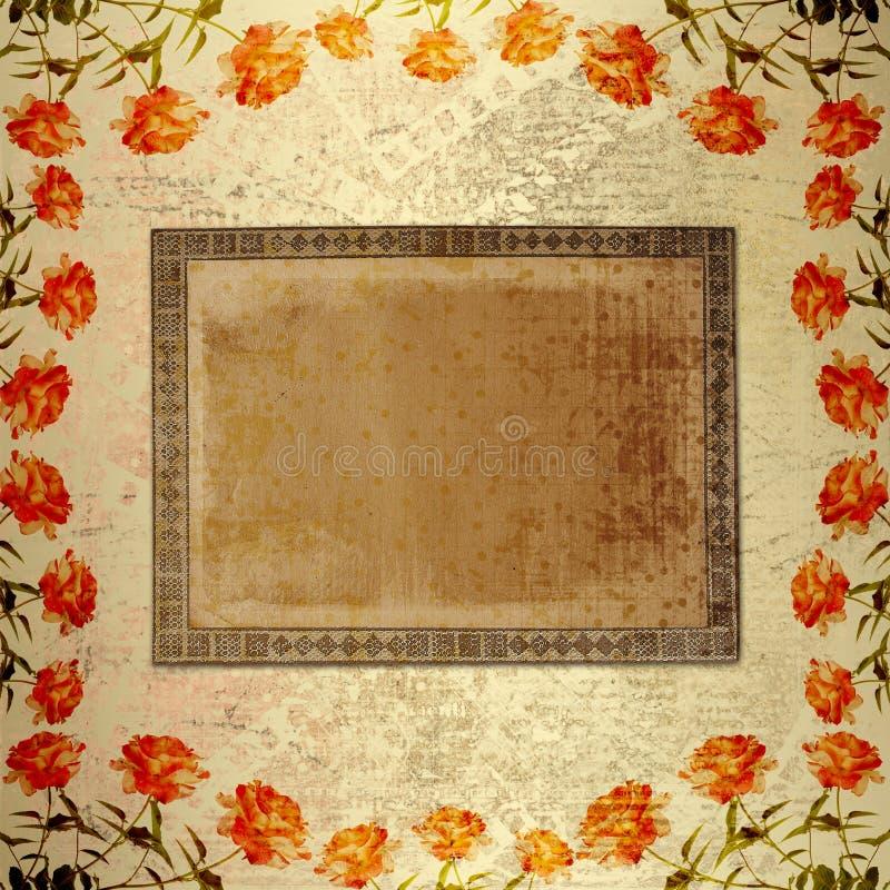alienujący tła złota papier wzrastał royalty ilustracja