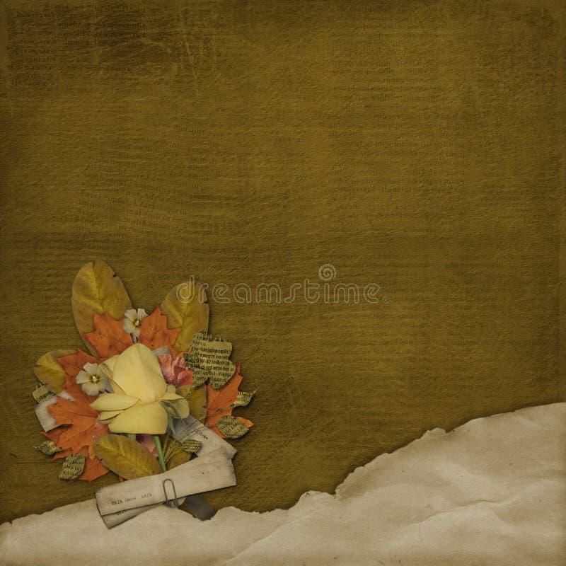 alienujący tło zmięty liści, ilustracja wektor