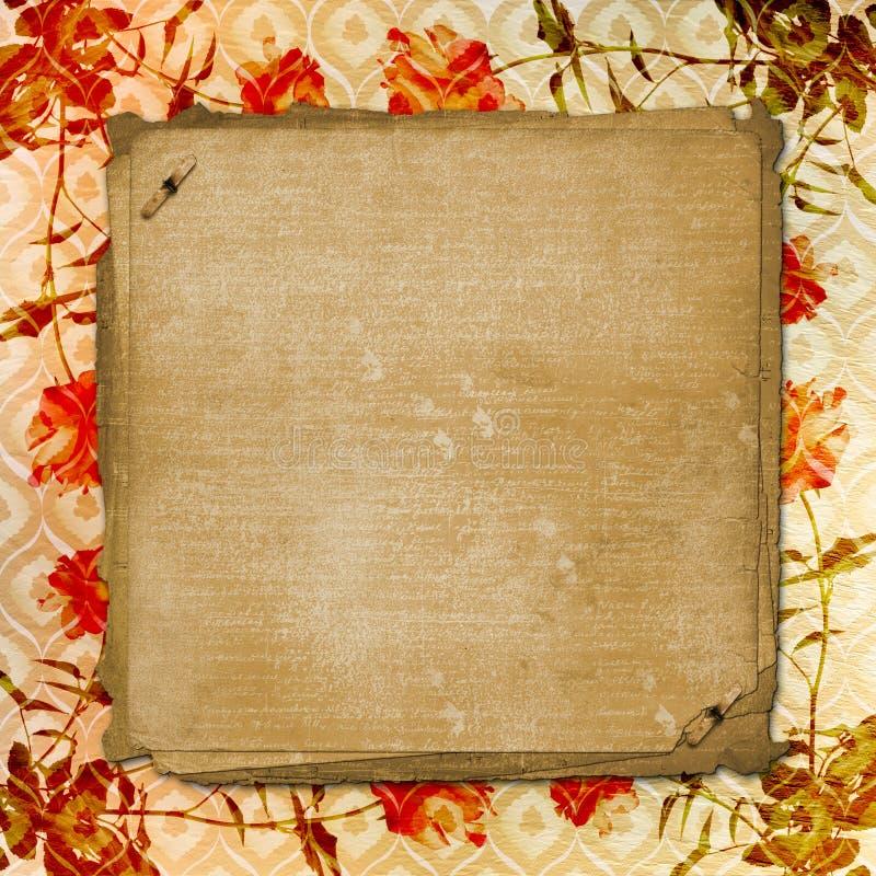 Alienujący złoto papieru tło dla zawiadomienia obraz royalty free
