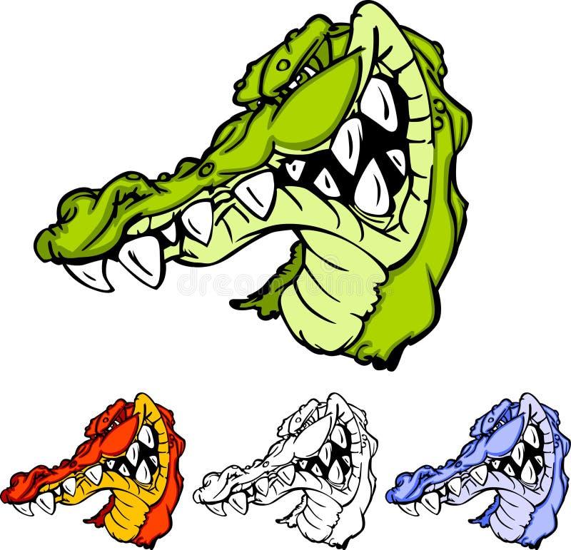 aligatora gator loga maskotka ilustracji
