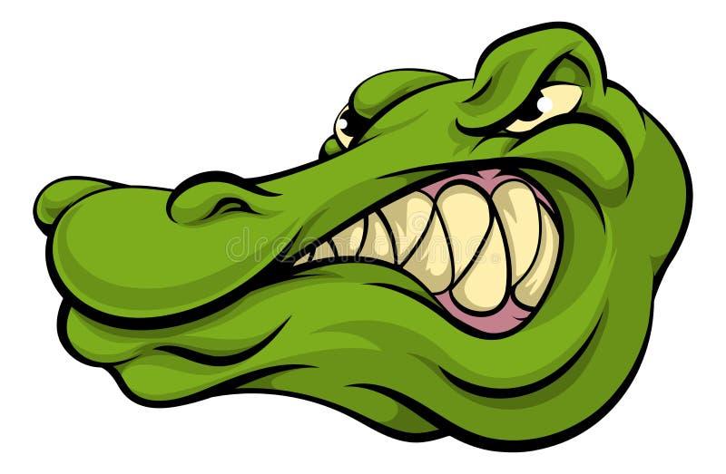 Aligatora lub krokodyla maskotka ilustracja wektor